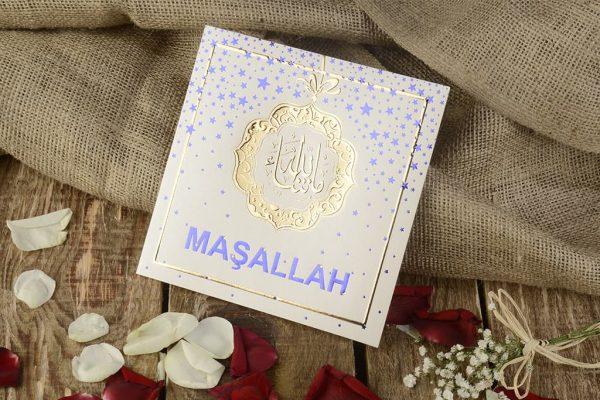 arapça maşallah yazılı sünnet davetiyesi