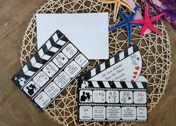 sinema klaketi davetiye