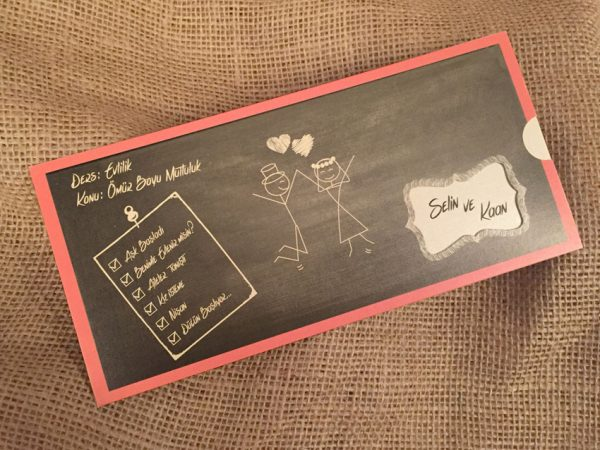 okul tahtalı davetiye modeli