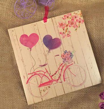 kalpli bisikletli davetiye