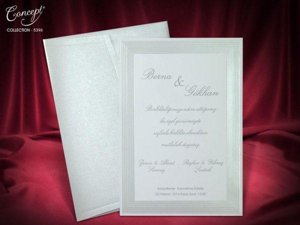 Sedefli sade davetiye davetiyesi