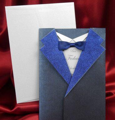 takım elbiseli sünnet davetiyesi