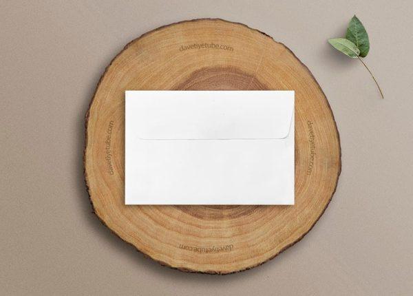 Buklet Kapaklı Dikdörtgen Beyaz Davetiye Zarfı, 12×18 cm