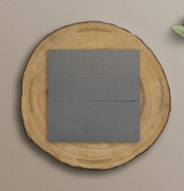Buklet Kapaklı Kare Gri Davetiye Zarfı, 16x16 cm